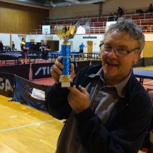 Endre Furu kunne jubla etter få ha vunne herrar F!