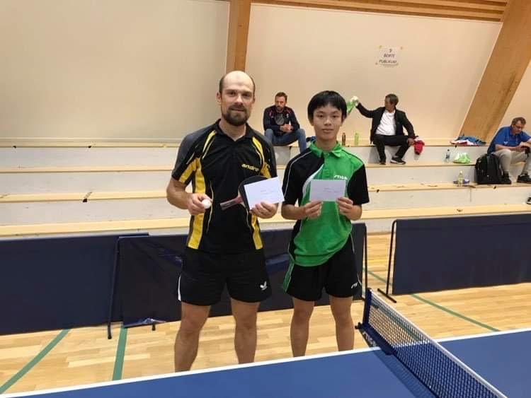 Kestitus Barauskas (til venstre) slo Vincent Nguyen i finalen i Herrar c!